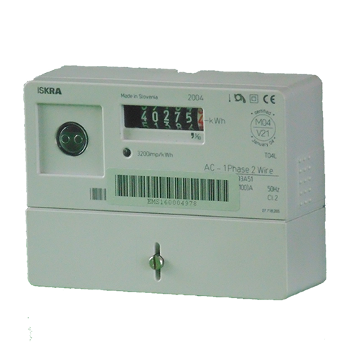 Iskra M160 single phase electric meter side view