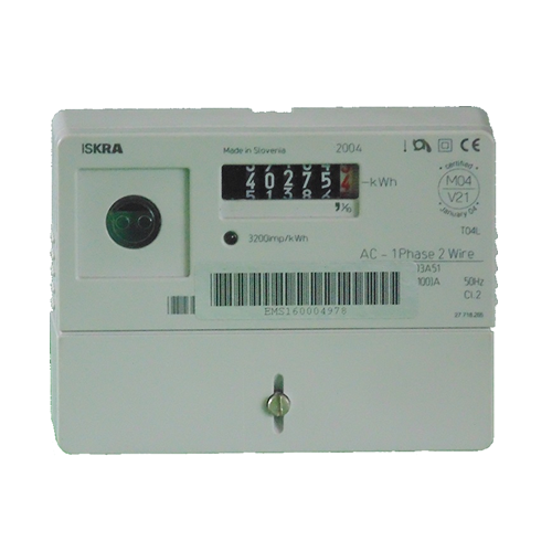 Iskra M160 single phase electric meter front view
