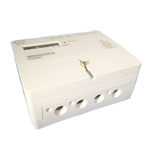 Actaris ACE1000 electric meter single phase bottom view