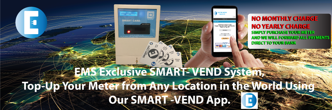 Electric meters sales smart vend system top-up meters with an app