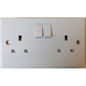 2 gang double electric socket