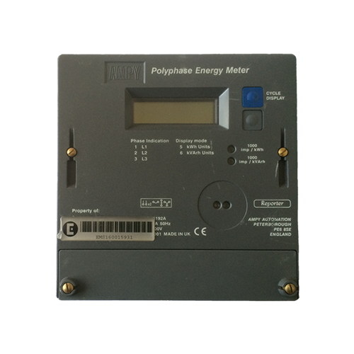 Ampy 5192 three phase electric meter front view