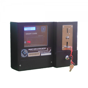 Coin prepayment electricity meter with side / front fixing