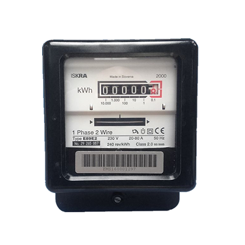 Iskra E89E2 single phase electric meter front view