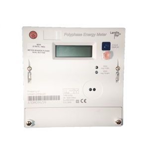 Landis and Gyr 5219 three phase electricity meter front view