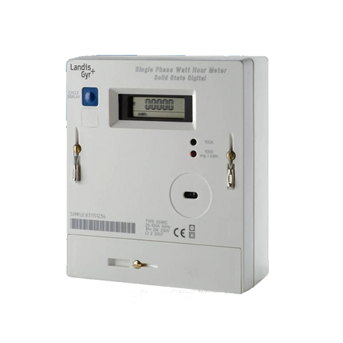 Single Phase Meters And 3 : Landis gyr c credit single phase electric meter