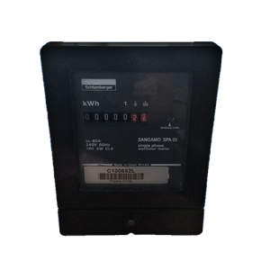 Sangamo SP01 single phase electric meter front angle