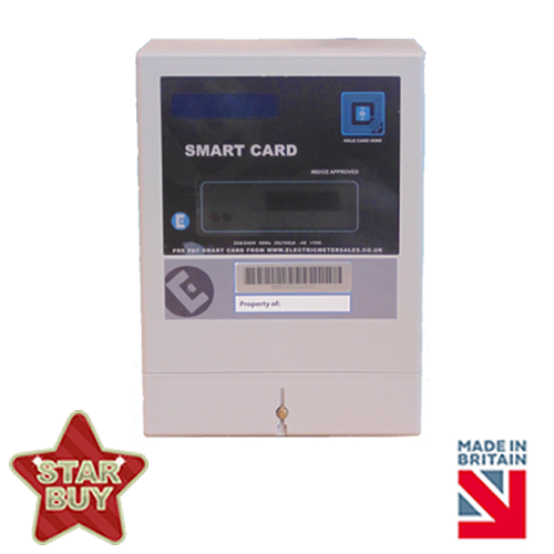 Single phase RFID contactless electric card meter