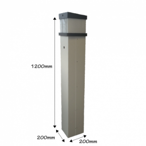 Marina hook-up pedestal dimensions 1200mm x 200mm x 200mm