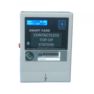 Contactless smart card top-up station by Electric Meter Sales